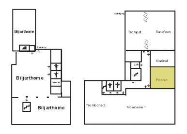 Verploegen Piccolo zaal plattegrond